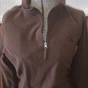 Brown north face pullover